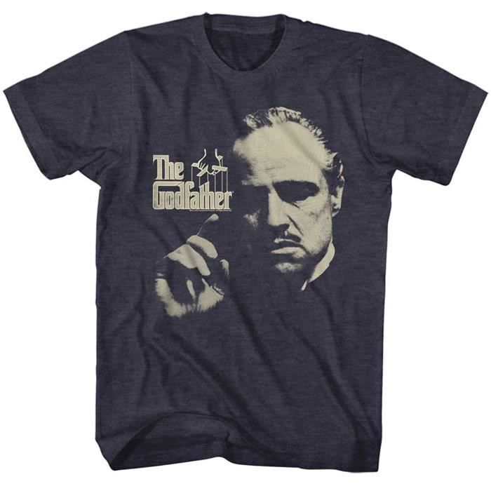 Parrain crime 1972 film Marlon Brando Corleone Logo Bleu Marine Adulte T-Shirt
