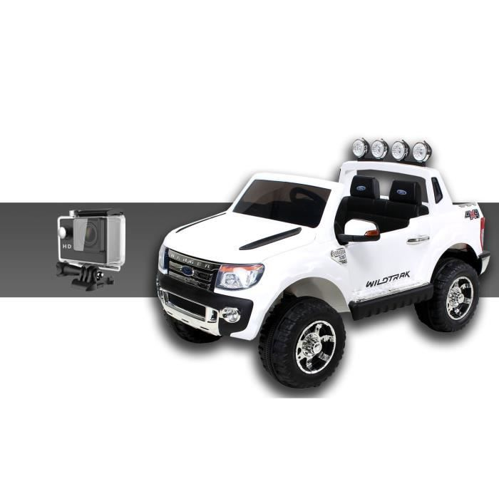 mini voiture lectrique pour enfants ford ranger 70 watt blanc cam ra sport achat vente. Black Bedroom Furniture Sets. Home Design Ideas