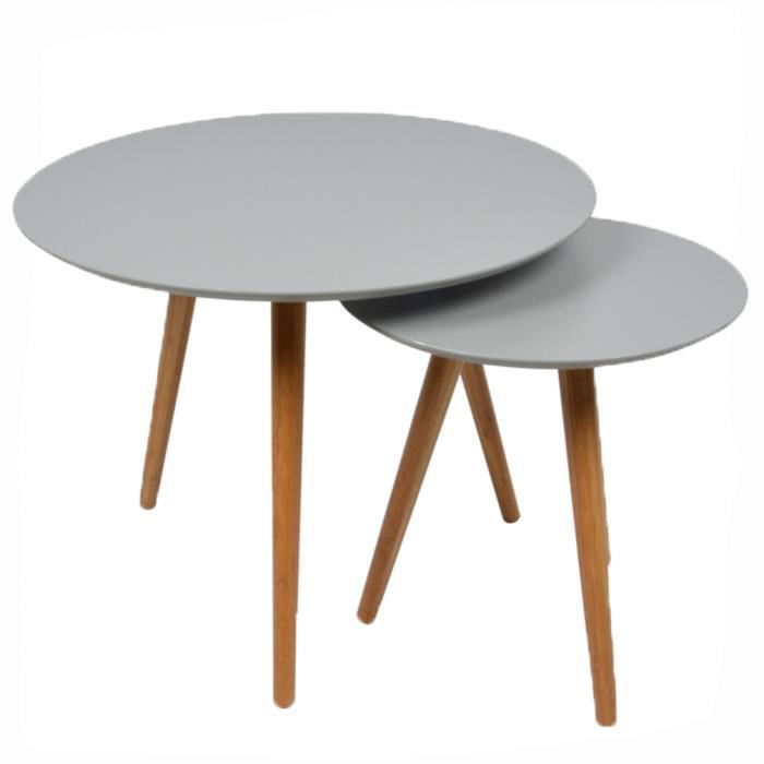 2 tables basses gigognes rondes grises lagan achat vente table basse 2 tables basses - Table basse inspiration scandinave ...