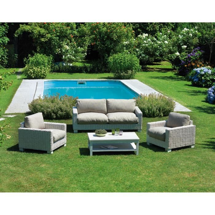 salon jardin avec canap de 2 places 2 fauteuils 1. Black Bedroom Furniture Sets. Home Design Ideas
