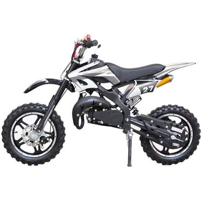 MOTO DIRT BIKE Mini moto 50 cc 2 Temps Enfant - Noire -