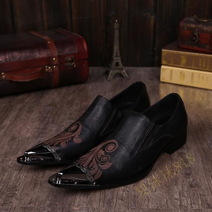 Pop Italie Style pour homme Pointu Toe Chaussures en cuir véritable Hande-Made Wedding Party Chaussures Oxford Chaussures richelieu