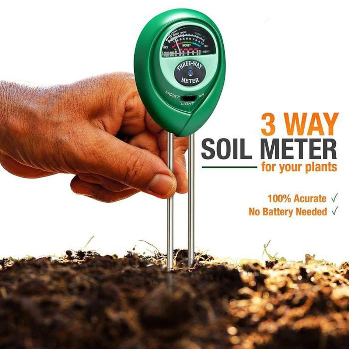 Testeur de sol, pH mètre de sol Kit de test de sol 9-en-9 pour l