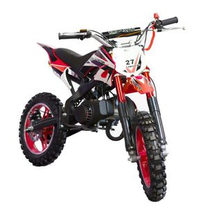TAOTAO Dirt Bike 50 cc 2 Temps DB10SA Rouge - Moto enfant