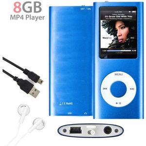 LECTEUR MP3 MP3 MP4 Player Lecteur 8Go Vidéo Radio Musique Jeu