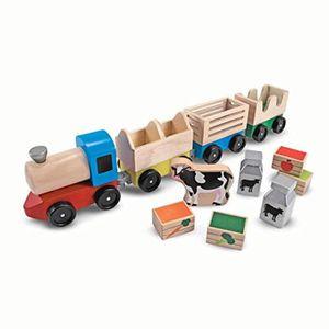 VOITURE ELECTRIQUE ENFANT Voiture Electrique VQ90Y Bois Ferme Train Toy (3 L