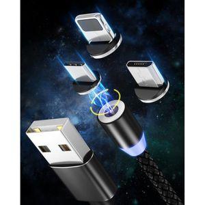 CÂBLE TÉLÉPHONE 3 en 1 chargeur magnétique pour micro usb iphone u