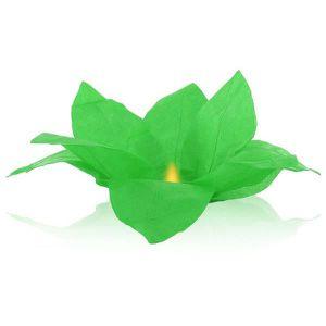 LANTERNE FANTAISIE Lanterne flottante en papier thaï vert Nymphea for