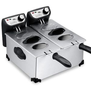 FRITEUSE Friteuse double 2x3L 4000w semi pro cuisson à l'ét