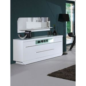 buffet bahut design blanc laque achat vente buffet. Black Bedroom Furniture Sets. Home Design Ideas