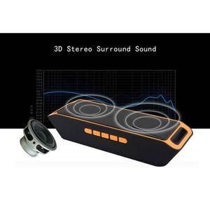ENCEINTE NOMADE orange mini enceinte Bluetooth haut-parleur Stereo