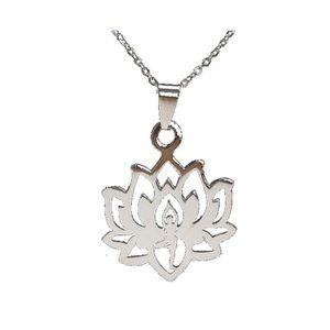 Charms Pendentif tibétain argent Lotus Fit Bracelet Collier À faire soi-même 1.8 G