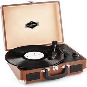 PLATINE VINYLE auna Peggy Sue - Platine vinyle portable design va