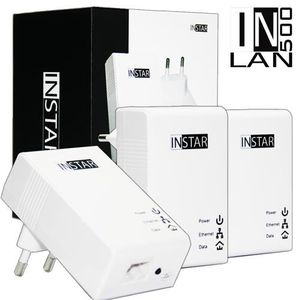COURANT PORTEUR - CPL INSTAR 3 Adaptateurs CPL IN-LAN 500 500Mbps Blanc