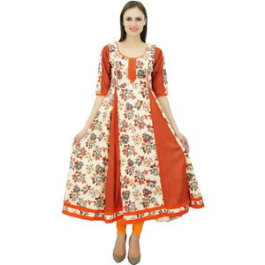 CHEMISE - CHEMISETTE Bimba A-ligne Floral coton Kurti Designer Mesdames