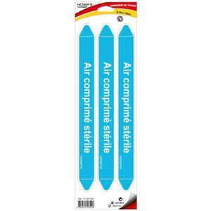 PLANCHE A DÉCOUPER Planche de 3 marqueurs de tuyauterie Air comprimé