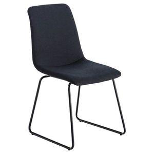 CHAISE Chaise de visiteur en tissu et métal coloris noir-