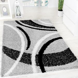 tapis de salon noir et blanc achat vente tapis de. Black Bedroom Furniture Sets. Home Design Ideas