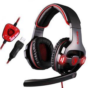 CASQUE AVEC MICROPHONE SADES®SA903 Casque gamer compatible PS4 pour jeux