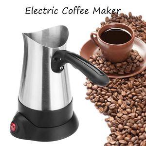 MACHINE À CAFÉ T4W 800W 4 Tasses Cafetière Electrique Expresso Mo