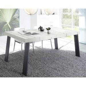 TABLE À MANGER SEULE Table de repas Chêne blanchi/Métal - PALERME n°1 -