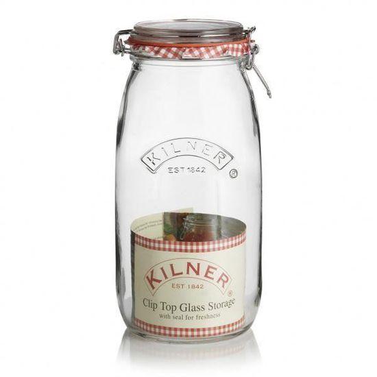 4 X Kilner Clip Top 0.5 L ronde en verre de Stockage Bocaux Confitures Chutney préserver NEUF