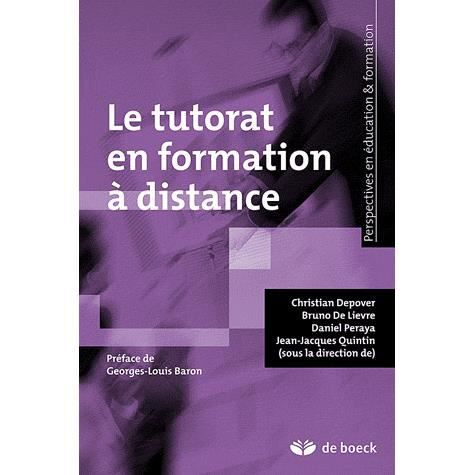 le tutorat en formation distance achat vente livre alain jaillet de boeck parution 27 01. Black Bedroom Furniture Sets. Home Design Ideas