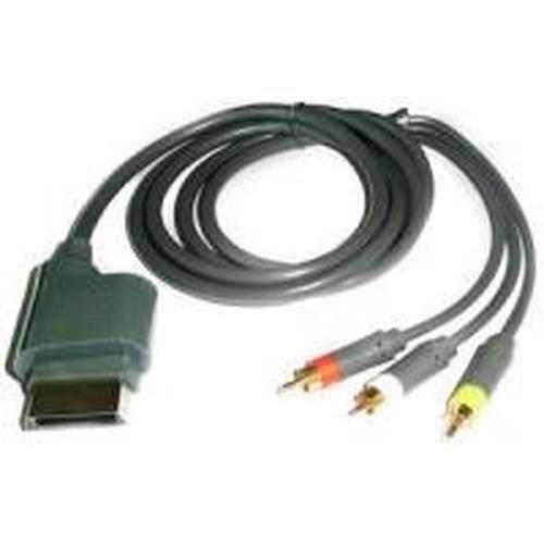 Adapt gX Xbox 360 AV cable, 1,8 m, 3 x RCA, Mâle-Mâle, Noir