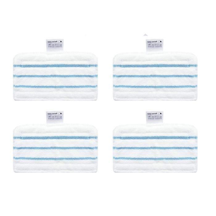 Lot de 4 Lingettes Microfibres de Rechange pour les Balais Vapeur Black+Decker FSM1610 (Alternative à FSMP20)