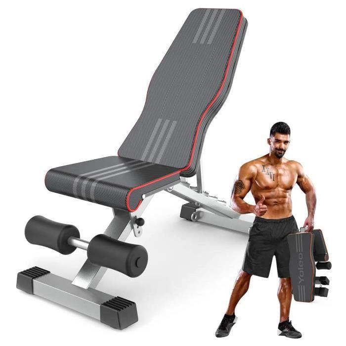 Banc de Musculation Banc réglable pour l'entraînement Complet du Corps Banc inclinable pour Exercice Gymnastique à Domicile/Bureau