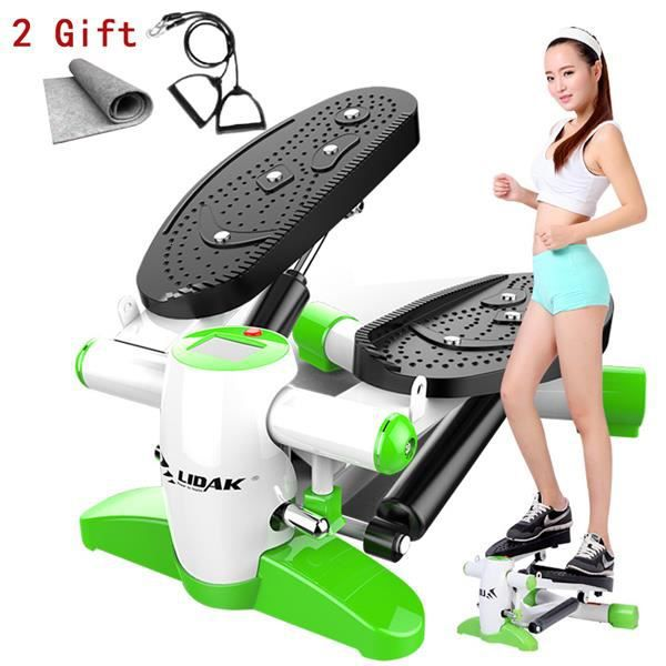 multi-fonctionnel Mini tapis de course avec corde de traction et tapis Massage pied Fitness Steppers silencieux perdre