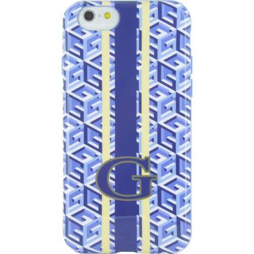 GUESS Coque semi-rigide imprimé cubique - Pour iPhone 6 / 6S - Bleu et Blanc