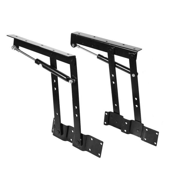 1 paire Pliage Ascenseur Mécanisme de Plateau Relevable Lift Up Ressort Charnière pour Table Basse