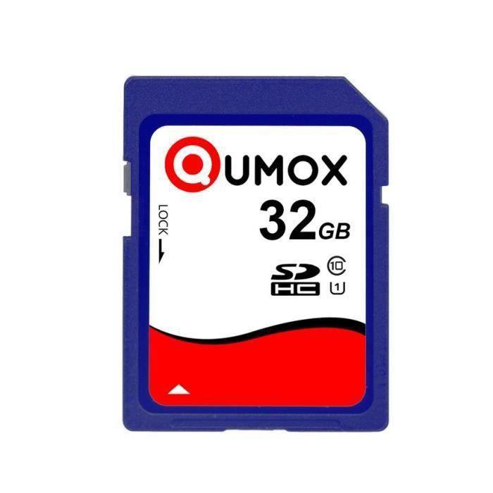 QUMOX 32Go carte mémoire SDHC Class 10 UHS-I 32Go Secure Digital Carte mémoire
