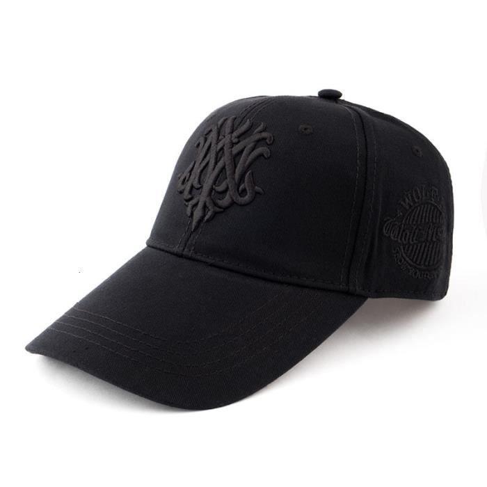 black black 55-60cm -Casquette de camionneur en coton à visière longue pour homme, chapeaux de Sport, grande taille, 55 60cm 60 65cm