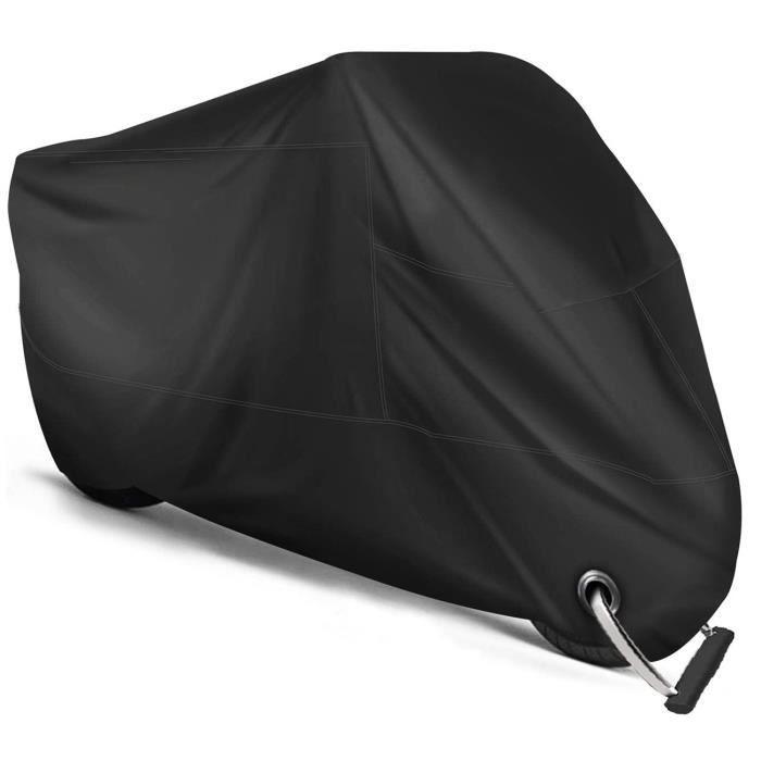 Housse de Protection pour Moto Exterieur, Couverture Imperméable en Polyester 190T pour Moto, Scooter, Taille: XL, Couleur: Noir
