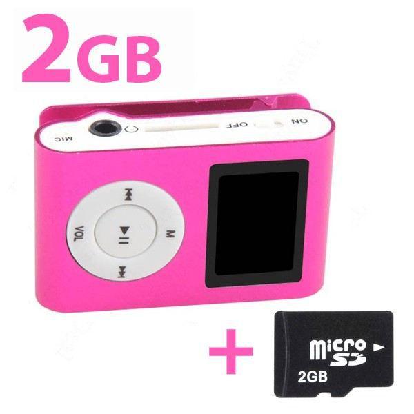 Lecteur MP3 clipable avec écran digital (rose) …