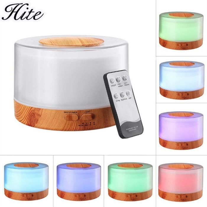 500 ML grain de bois LED veilleuse muette rechargeable air humidificateur USB humidificateur aromathérapie Diffuser