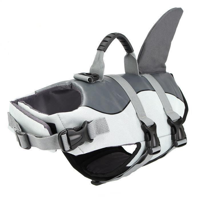 Sirène - L L Réglable S - M - L de chien Natation Gilet de sauvetage Gilet flotteur Flottabilité aide Voile Shark-S S Bo17097