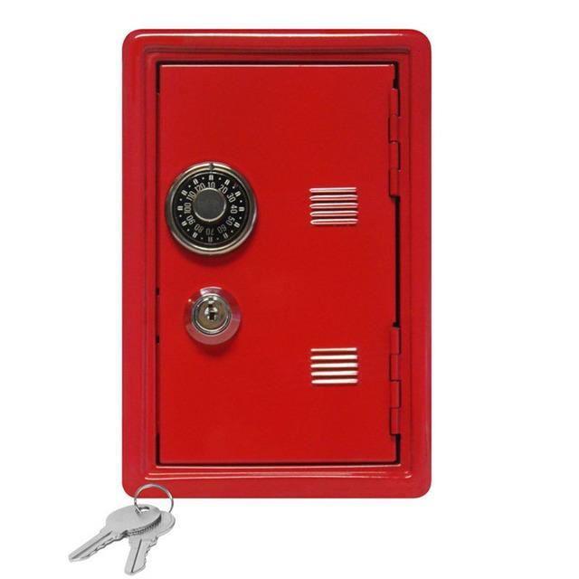 Mini boîte à billets avec mot de passe pour enfant, dépôt d'argent numérique, sécurité, Cadeau préféré,Direction financière-rouge