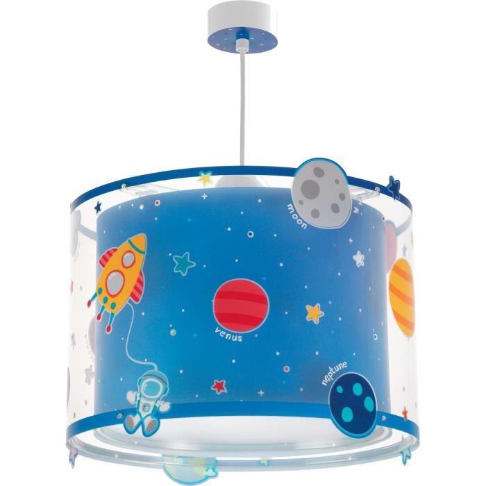 Lustre suspension chambre enfant Planets - Bleu