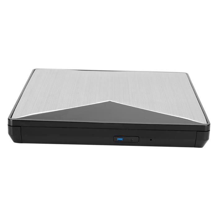Lecteur optique externe, graveur de lecteur DVD USB, USB 3.0 pour ordinateurs portables de bureau Large compatibilité pour les