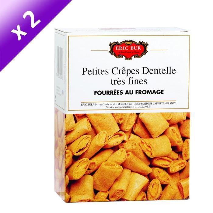 [LOT DE 2] ERIC BUR Crêpes dentelles Fourrées au Fromage - 125 g