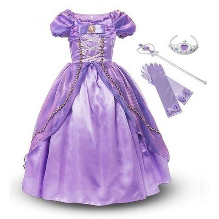 Déguisement pour enfants Princesse Rapunzel +3 Accessoires