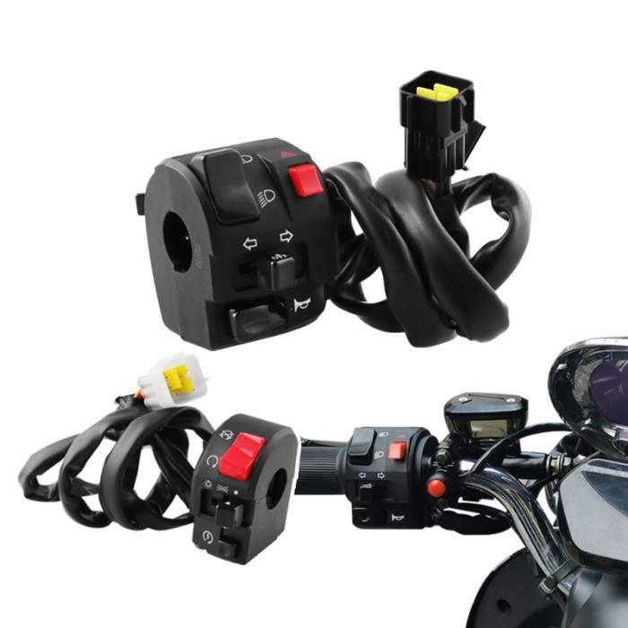 1 paire de commutateurs de moto 22mm en 12V contrôleur de commutateur de klaxon de SWITCH - HUB ETHERNET - INJECTEUR