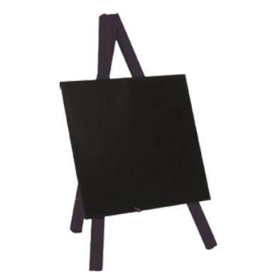 Securit® Mini tripod ardoise de table- Bois avec finition noir laqué - 24x15cm