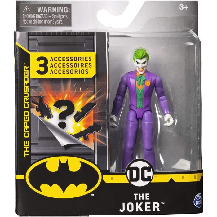 Batman 4 Inch THE JOKER Action Figure with 3 Mystery Accessories