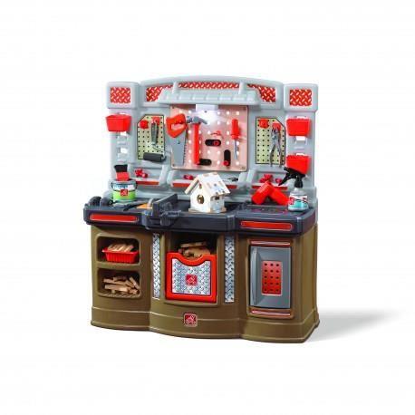 Step2 Atelier établi Big Builders Pro jouet enfant 3 ans en plastique solide
