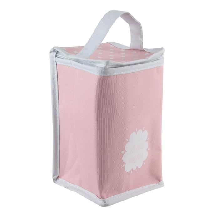 Conservation repas - Sac isotherme - 13 x H. 27 cm - Rose