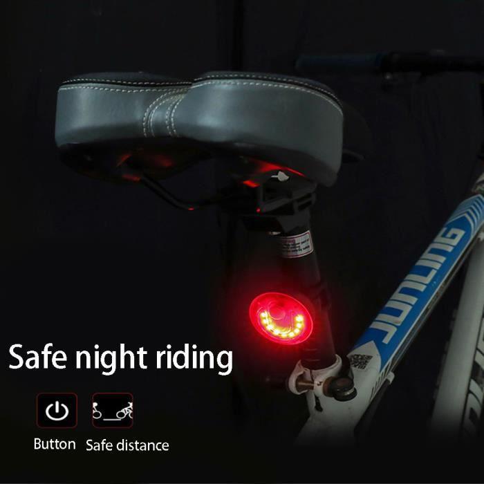 Cyclisme Vélo Feu Arrière LED USB Rechargeable Queue Avertissement Sécurité